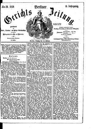 Berliner Gerichts-Zeitung vom 14.02.1854