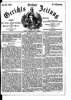 Berliner Gerichts-Zeitung vom 16.02.1854