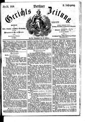 Berliner Gerichts-Zeitung vom 18.02.1854