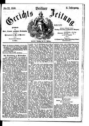 Berliner Gerichts-Zeitung vom 21.02.1854