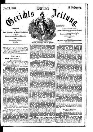 Berliner Gerichts-Zeitung vom 23.02.1854