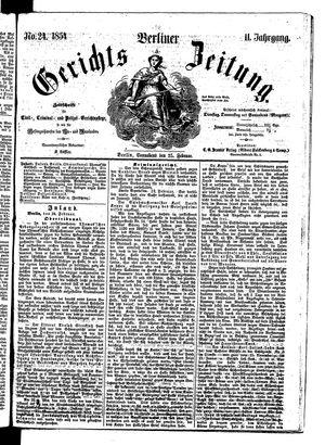 Berliner Gerichts-Zeitung on Feb 25, 1854