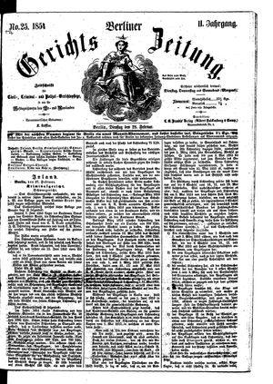 Berliner Gerichts-Zeitung vom 28.02.1854