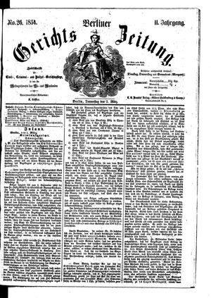 Berliner Gerichts-Zeitung vom 02.03.1854