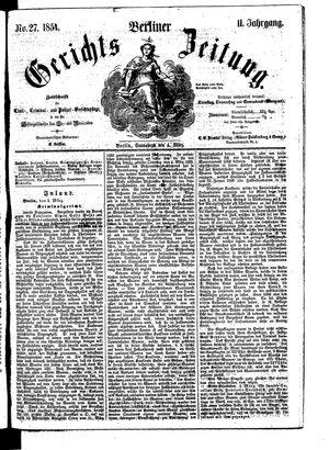 Berliner Gerichts-Zeitung vom 04.03.1854