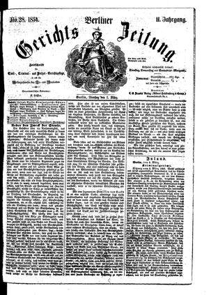 Berliner Gerichts-Zeitung vom 07.03.1854