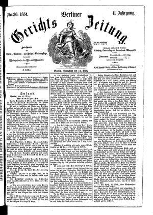 Berliner Gerichts-Zeitung vom 11.03.1854