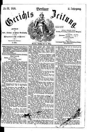 Berliner Gerichts-Zeitung vom 14.03.1854
