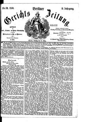 Berliner Gerichts-Zeitung on Mar 21, 1854