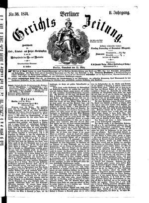 Berliner Gerichts-Zeitung vom 25.03.1854