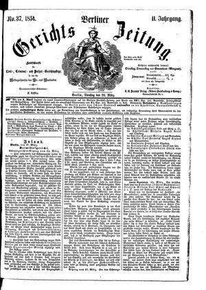 Berliner Gerichts-Zeitung vom 28.03.1854