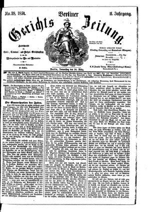 Berliner Gerichts-Zeitung vom 30.03.1854