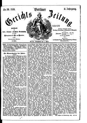 Berliner Gerichts-Zeitung on Apr 1, 1854