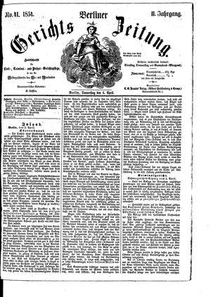 Berliner Gerichts-Zeitung vom 06.04.1854