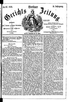 Berliner Gerichts-Zeitung vom 22.04.1854
