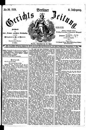 Berliner Gerichts-Zeitung vom 29.04.1854
