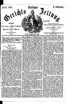 Berliner Gerichts-Zeitung vom 02.05.1854