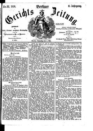 Berliner Gerichts-Zeitung vom 04.05.1854