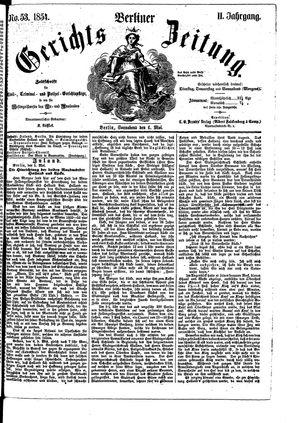 Berliner Gerichts-Zeitung vom 06.05.1854