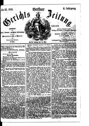 Berliner Gerichts-Zeitung vom 12.05.1854
