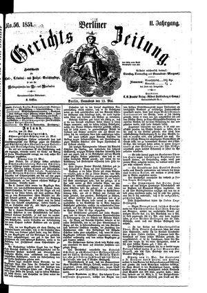 Berliner Gerichts-Zeitung vom 13.05.1854