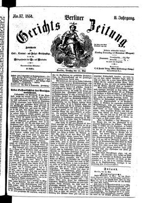 Berliner Gerichts-Zeitung vom 16.05.1854