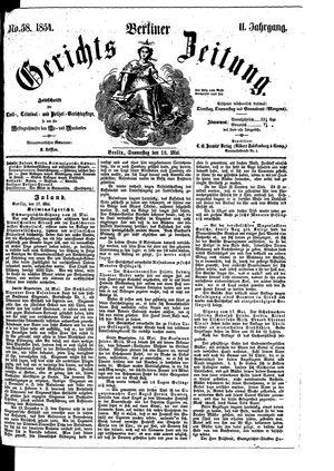 Berliner Gerichts-Zeitung vom 18.05.1854