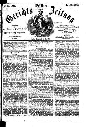 Berliner Gerichts-Zeitung on May 20, 1854