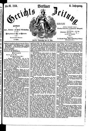 Berliner Gerichts-Zeitung vom 25.05.1854