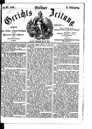 Berliner Gerichts-Zeitung on May 27, 1854