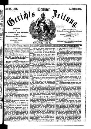 Berliner Gerichts-Zeitung vom 30.05.1854