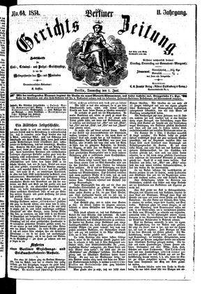 Berliner Gerichts-Zeitung vom 01.06.1854