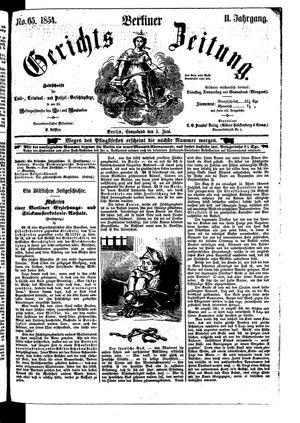 Berliner Gerichts-Zeitung vom 03.06.1854