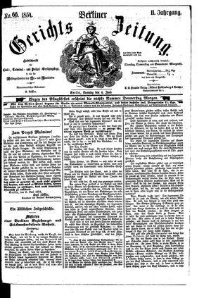 Berliner Gerichts-Zeitung on Jun 4, 1854