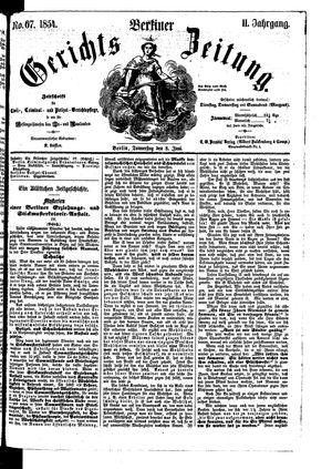 Berliner Gerichts-Zeitung vom 08.06.1854