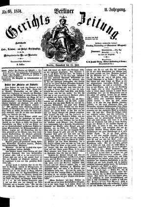 Berliner Gerichts-Zeitung vom 10.06.1854