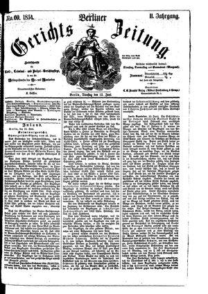 Berliner Gerichts-Zeitung vom 13.06.1854