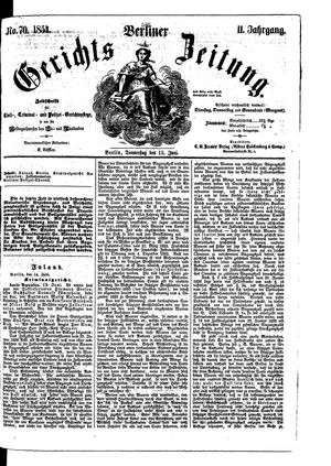 Berliner Gerichts-Zeitung on Jun 15, 1854