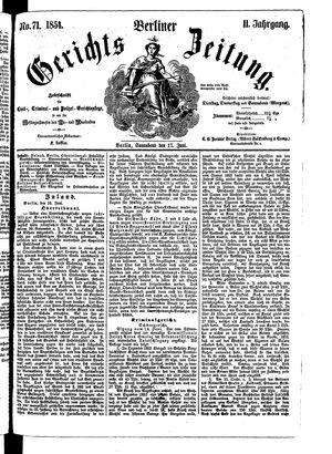 Berliner Gerichts-Zeitung vom 17.06.1854
