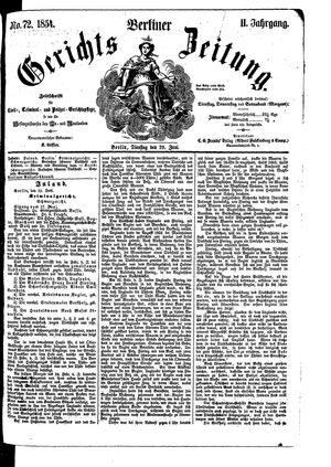 Berliner Gerichts-Zeitung vom 20.06.1854