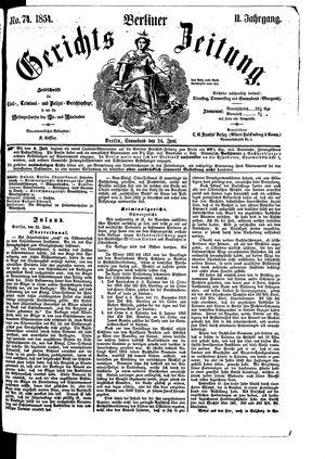 Berliner Gerichts-Zeitung on Jun 24, 1854