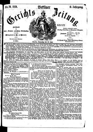 Berliner Gerichts-Zeitung vom 29.06.1854