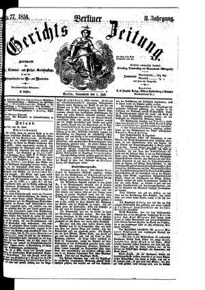 Berliner Gerichts-Zeitung vom 01.07.1854