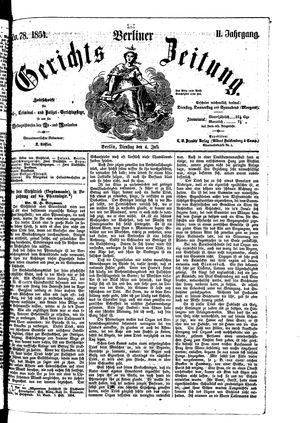 Berliner Gerichts-Zeitung vom 04.07.1854