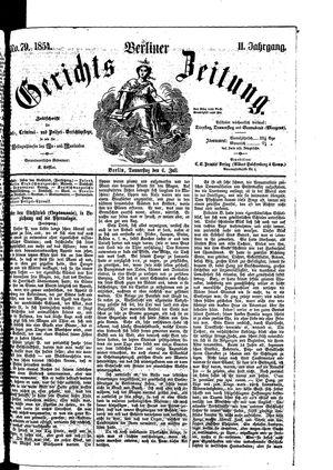 Berliner Gerichts-Zeitung vom 06.07.1854