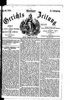 Berliner Gerichts-Zeitung on Jul 8, 1854