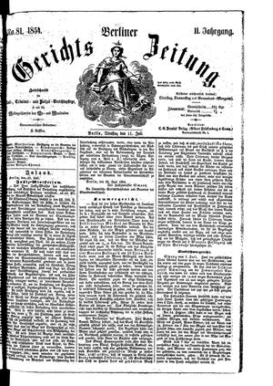 Berliner Gerichts-Zeitung vom 11.07.1854