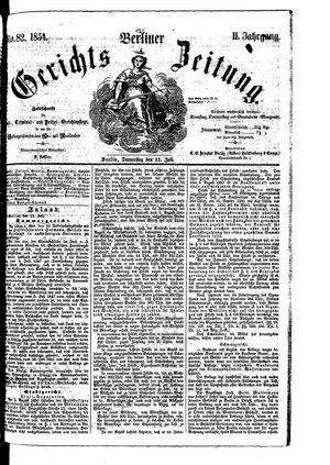 Berliner Gerichts-Zeitung vom 13.07.1854