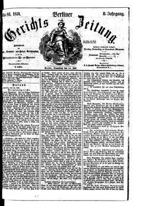 Berliner Gerichts-Zeitung on Jul 15, 1854
