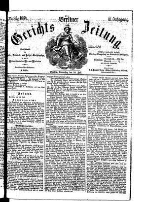 Berliner Gerichts-Zeitung vom 20.07.1854